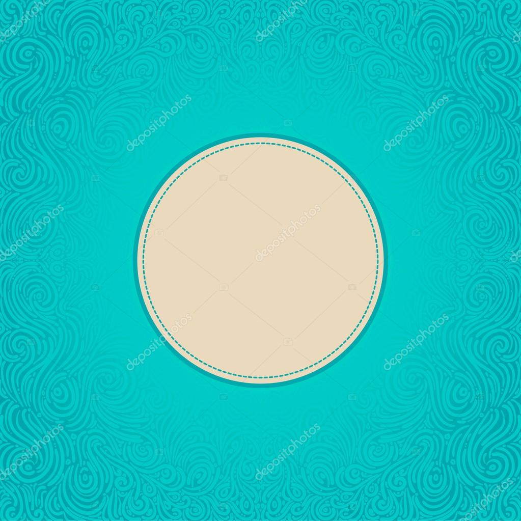Beautiful abstract ornate blue frame — Stock Vector #12644573