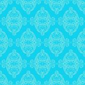 复古蓝色花纹 — 图库矢量图片