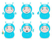Cute robots — Stock Vector