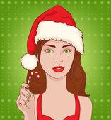 Christmas girl — Stock Vector