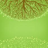 Albero verde — Vettoriale Stock