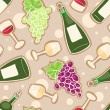 Royalty-Free Stock Imagen vectorial: Wine seamless pattern