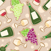 Wine seamless pattern — Stock Vector