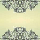 Gelben ornamentalen hintergrund — Stockvektor