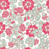 Pattern with pink flowers - 2 — Stock Vector