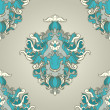 Foliate blue pattern — Image vectorielle