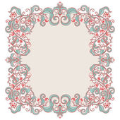 Beautiful floral frame — Stock Vector