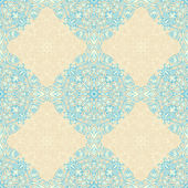 Vintage beige and blue pattern — Stock Vector