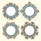 Four beautiful frames — Stock Vector