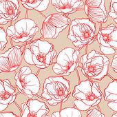 White poppies — Stock Vector