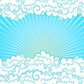 Рамка с облаками — Cтоковый вектор