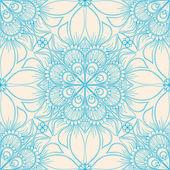 Motif en bleu avec des fleurs — Vecteur