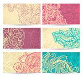 Seis padrões de cor natural — Vetorial Stock