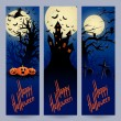Stock Vector: Three vertical Halloween banners