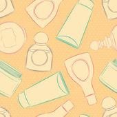 Fond avec des bouteilles — Vecteur