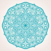 круглый голубой узор — Cтоковый вектор