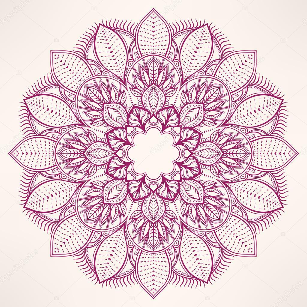 圆形天然紫色花纹