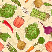 Verdure autunnali senza soluzione di continuità — Vettoriale Stock