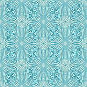 Retro blue flowers and swirls — Stockvektor