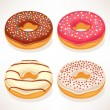 Cute donuts — Stock Vector