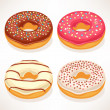 Cute donuts — Stock Vector #35156391