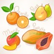 Exotic fruits - 1 — Stock Vector #35465323