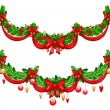 Beautiful Christmas garlands — 图库矢量图片