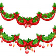 Beautiful Christmas garlands — Vecteur