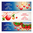 Three New Year banners — Stockvectorbeeld
