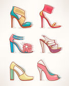 Models of women's shoes - 2 — Stock Vector