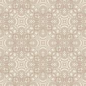 Vintage brown flowers — Stock Vector