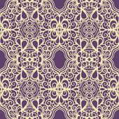 Vintage yellow and purple pattern — Stock Vector