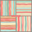 Four striped backgrounds — Vector de stock #37091549