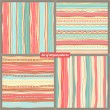 Four striped backgrounds — Stok Vektör