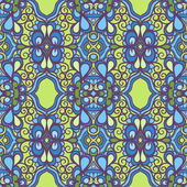 Vintage green and blue pattern — Wektor stockowy