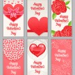 Stock Vector: Beautiful cards for Valentine's Day