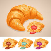 Delicious croissant — Stock Vector