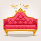 Retro sofa — Stock Vector