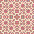 Pink and beige floral pattern — Stock Vector