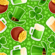 Seamless green background St. Patrick's Day — Stock Vector