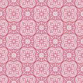 Pink pattern with flowers — Stock Vector