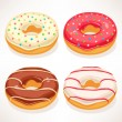 Cute donuts — Stock Vector #47733203