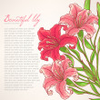 Card with pink lilies — Stock Vector #48695383