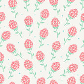Schattige roze bloemen — Stockvector
