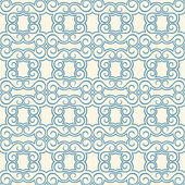 Blue and beige vintage pattern — Vettoriale Stock