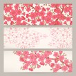 Banners with pink cherry flowers — Stock Vector #50132585