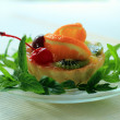 Pastry with orange and mint — Stock Photo