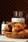 Chocolate croissant — Stock Photo