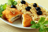 The Ukrainian chicken chop kiev — Stock Photo