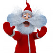Stock Photo: 3d render of SantClaus shows emotions of fright